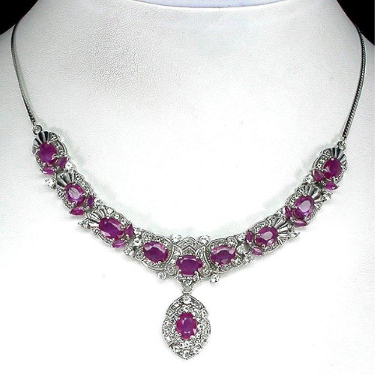 A 116.58 ct. VVS Ruby Drop Necklace