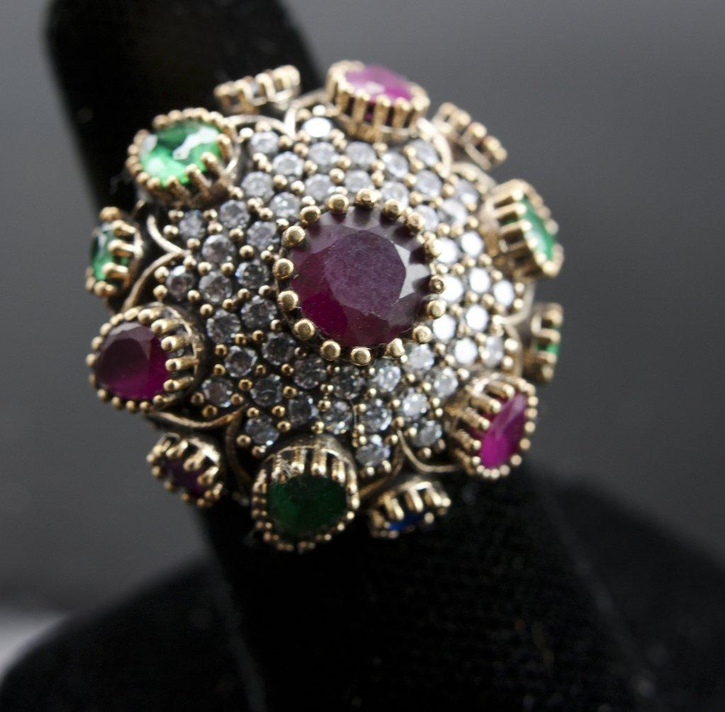A Ruby & Topaz Ring