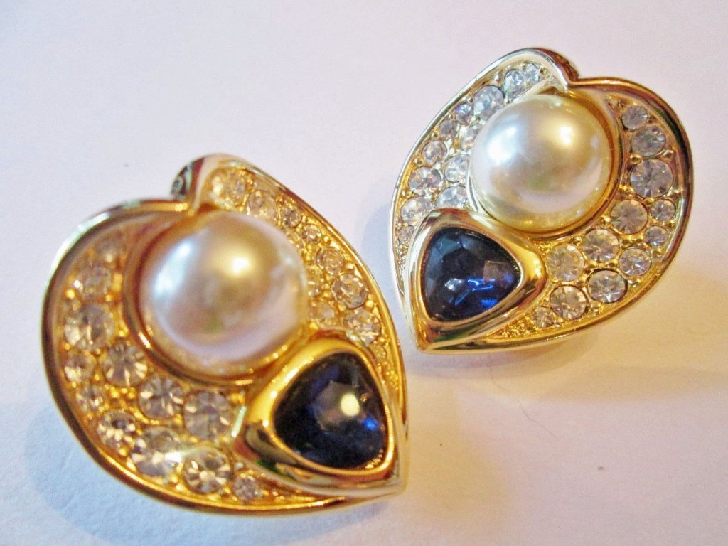 A Pair of Nolan Miller Couture Clip Earrings
