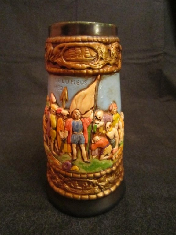 A Columbus Ceramic Beer Stein