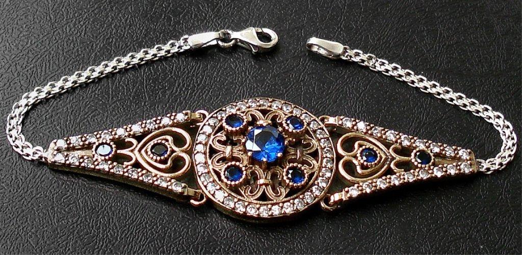 A Sapphire & White Topaz Bracelet