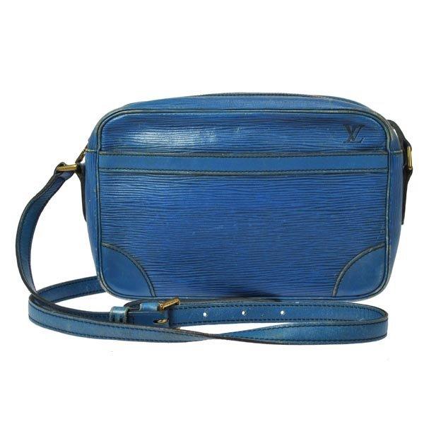 A Louis Vuitton Trocadero Blue Epi Leather Bag