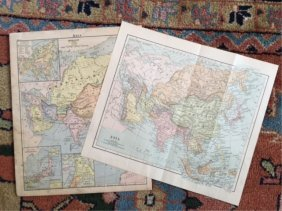 Original Late 19thc/early 20thc Maps Of Asia
