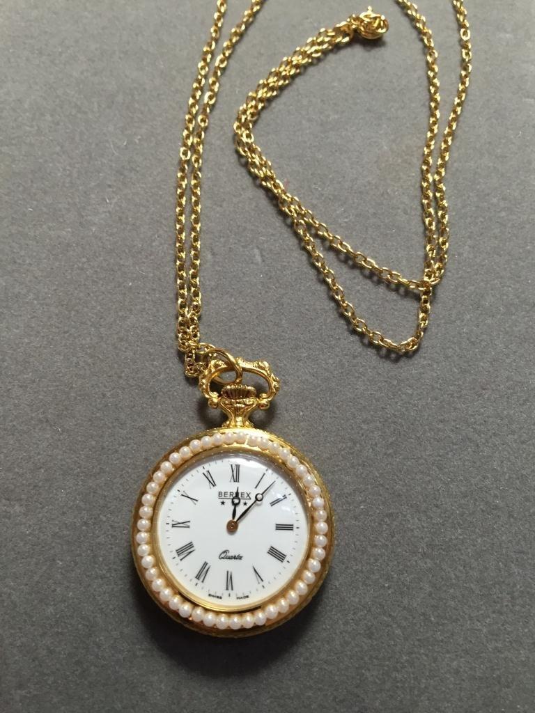 Ladies Gold Bernex Portrait Pocket Watch - 2