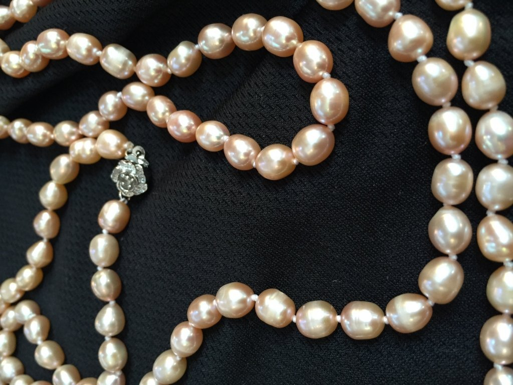 """Pink Akoya Cultured Baroque Pearl 50"""" Necklace - 2"""