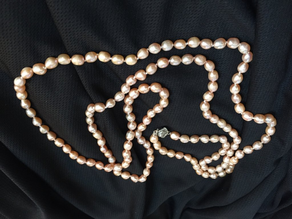 """Pink Akoya Cultured Baroque Pearl 50"""" Necklace - 3"""