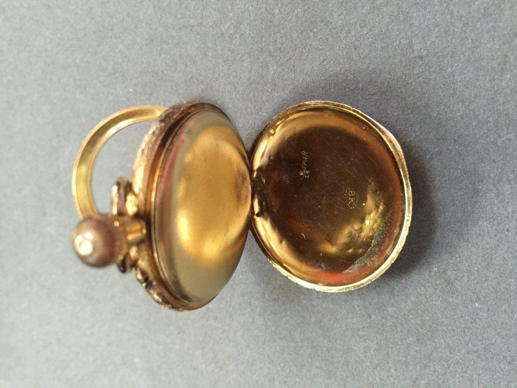 18kt Gold Continental Enamel Pocket Watch - 4