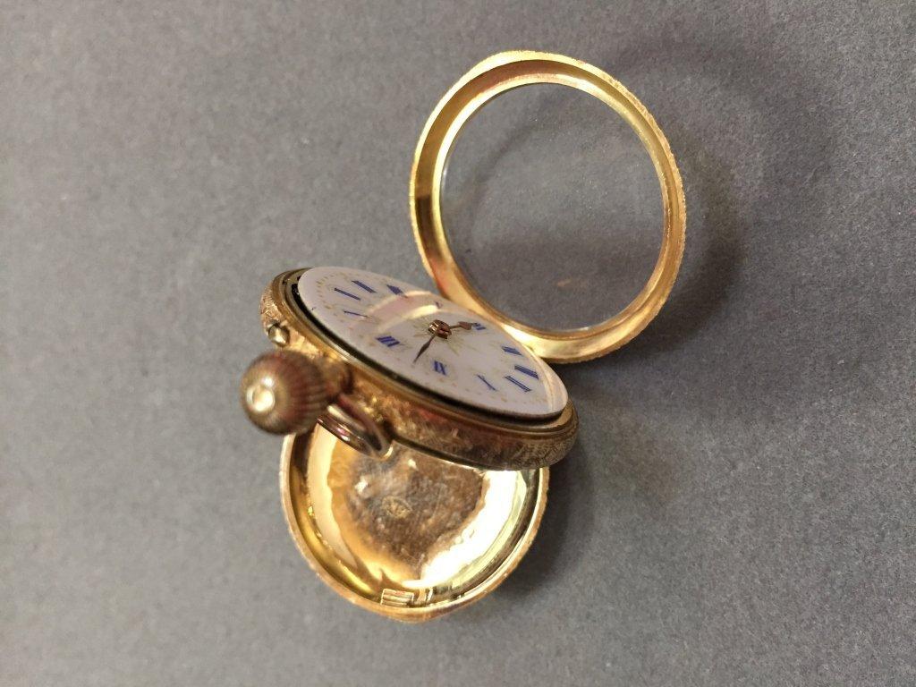 18kt Gold Continental Enamel Pocket Watch - 5