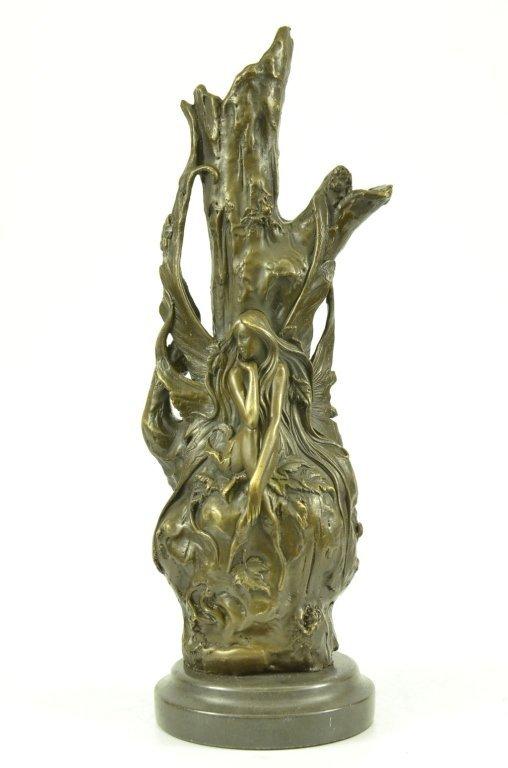 Art Nouveau Bronze Butterfly Fairy Vase - 2