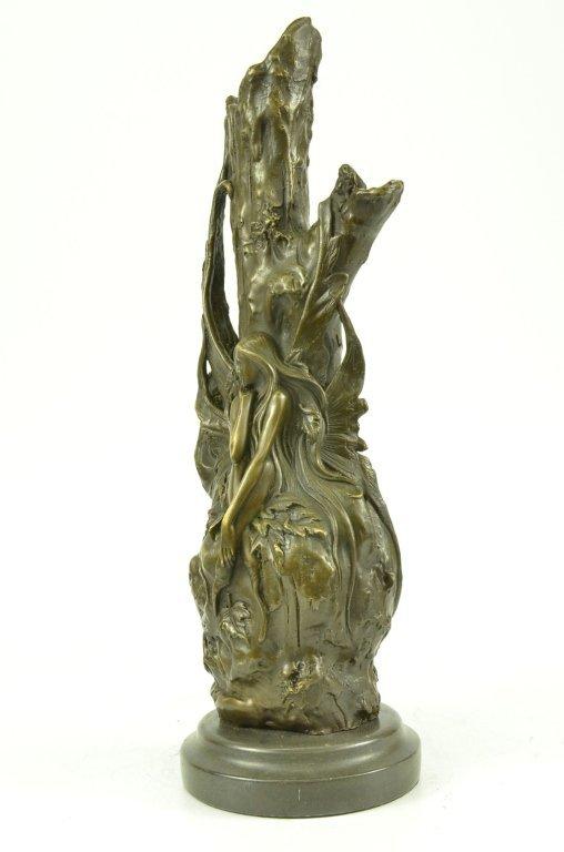 Art Nouveau Bronze Butterfly Fairy Vase - 4