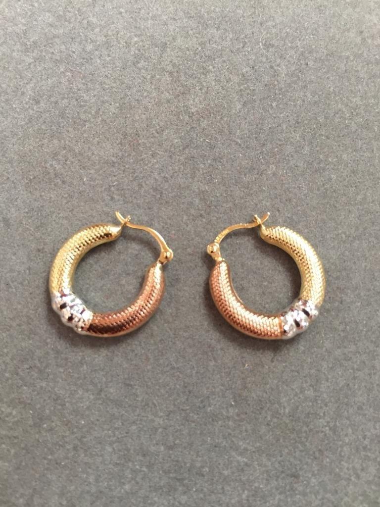 14kt Gold Hoop Earrings - 2