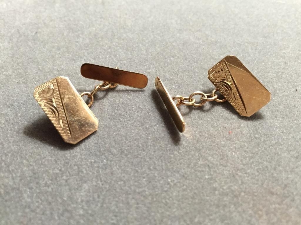 British Gentleman's 9kt Gold Cufflinks