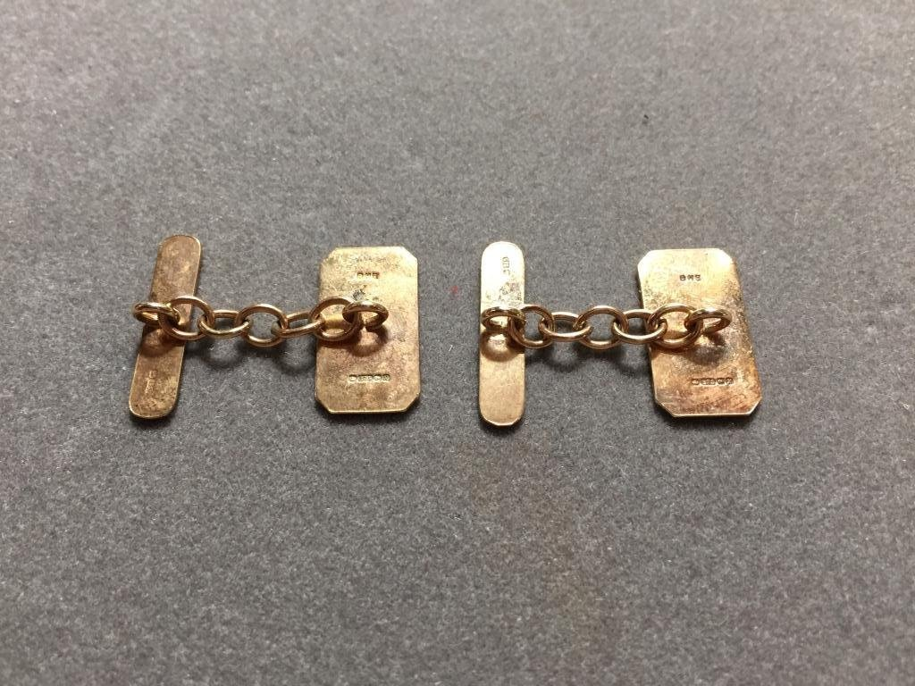 British Gentleman's 9kt Gold Cufflinks - 2