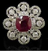 33ct Burmese Ruby  Diamond Ring
