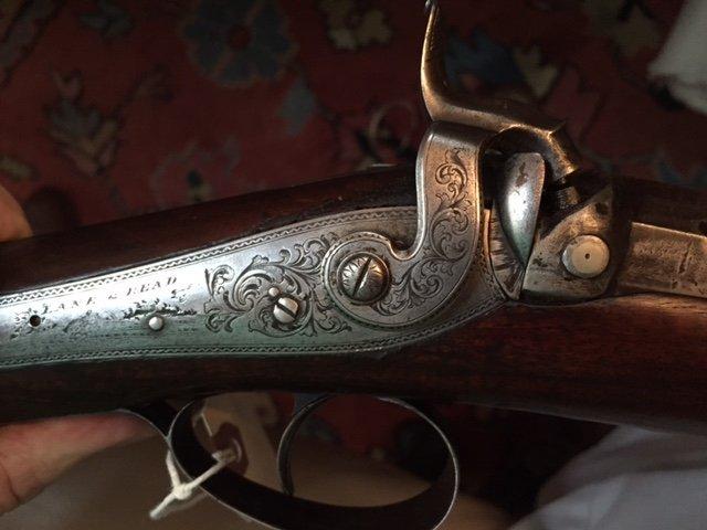 1840 Lane & Reed Boston Half Stock Long Rifle - 9