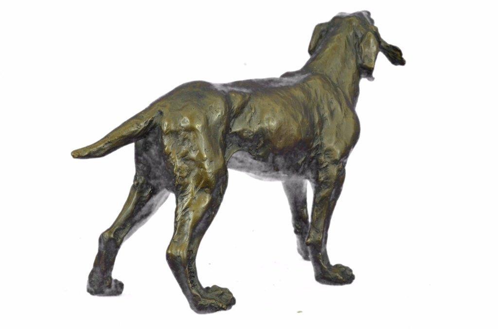 After Truffot, Hunting Dog & Bird Bronze Sculpture - 4