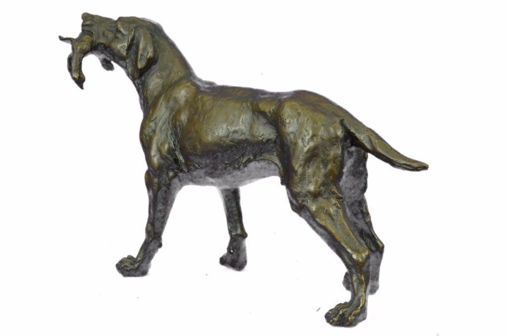 After Truffot, Hunting Dog & Bird Bronze Sculpture - 5