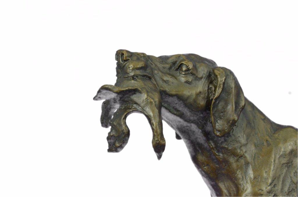 After Truffot, Hunting Dog & Bird Bronze Sculpture - 6