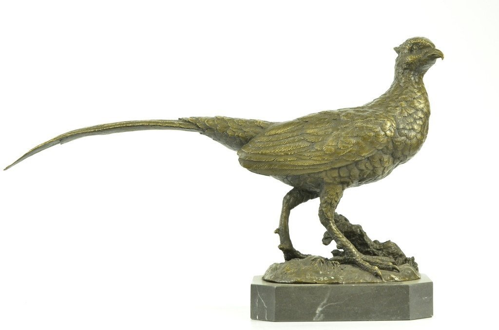 Bronze Pheasant Hunter's Trophy Sculpture
