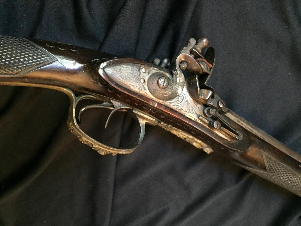 18thc Continental Double Barrel Shotgun