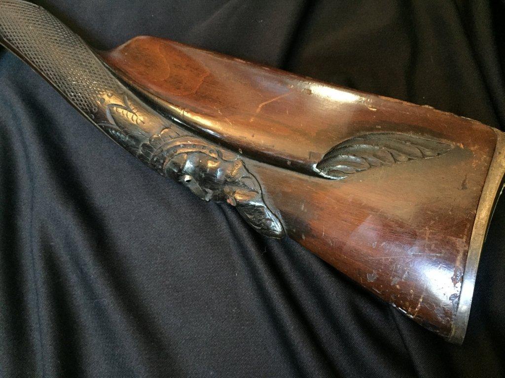 18thc Continental Double Barrel Shotgun - 2