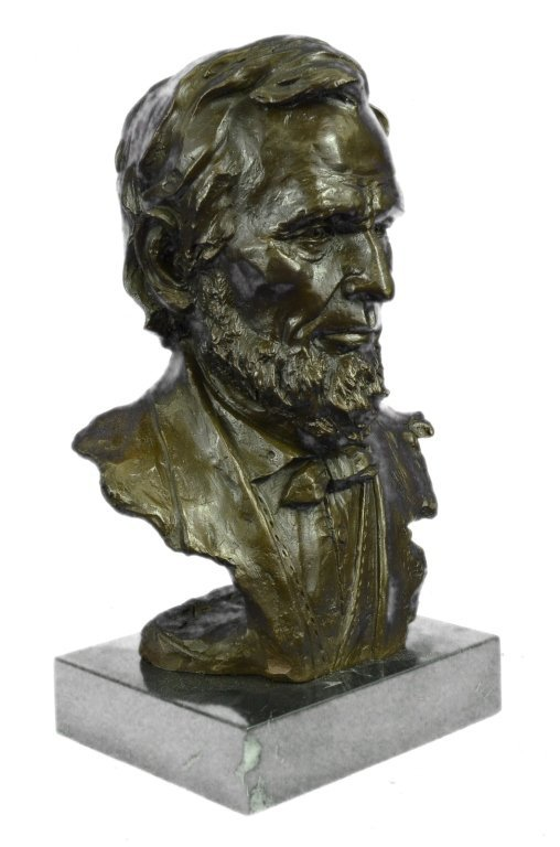 Signed Limited Edition Lincoln Bronze Bust - 6