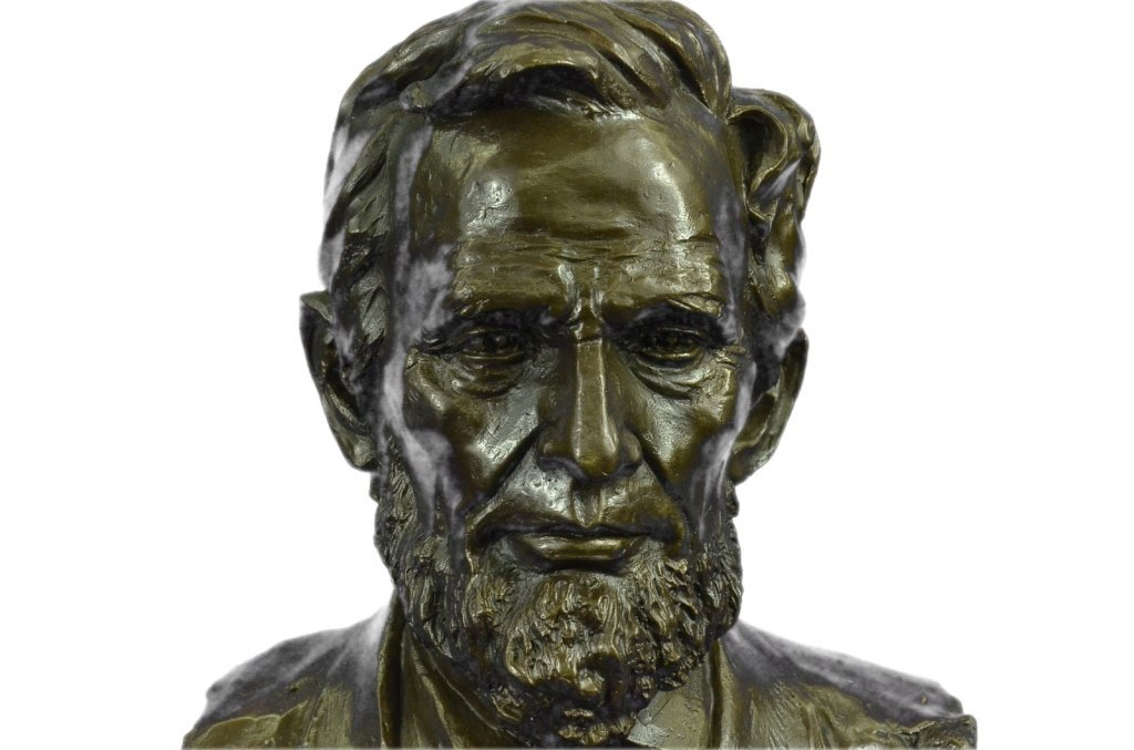 Signed Limited Edition Lincoln Bronze Bust - 7