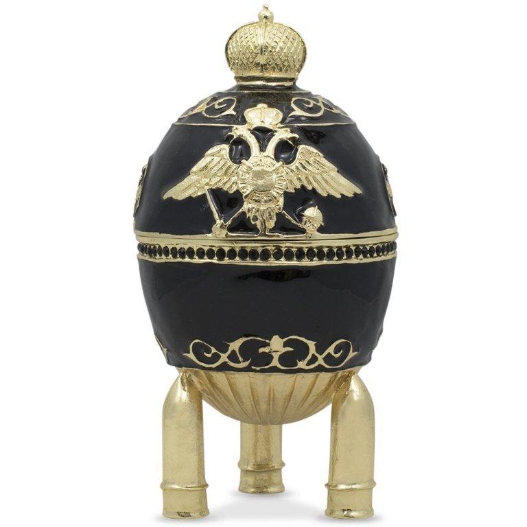 1916 Steel Military Faberge Inspired Jewel Box Egg