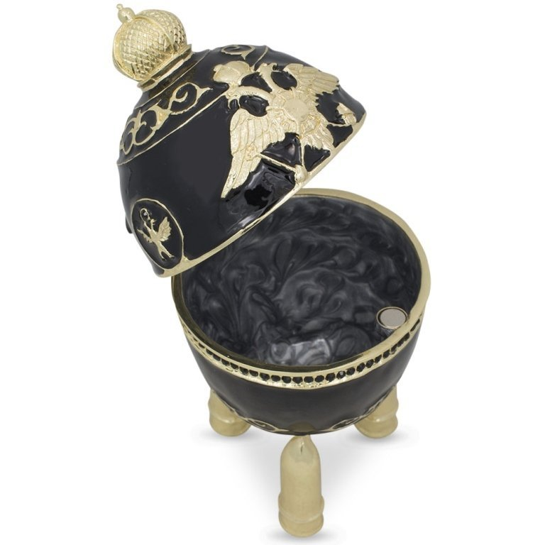 1916 Steel Military Faberge Inspired Jewel Box Egg - 2