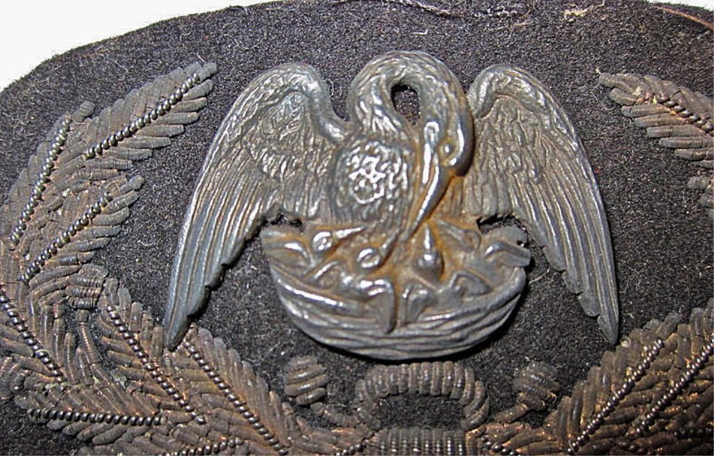 RARE! Confederate Louisiana General's Hat Insignia - 2