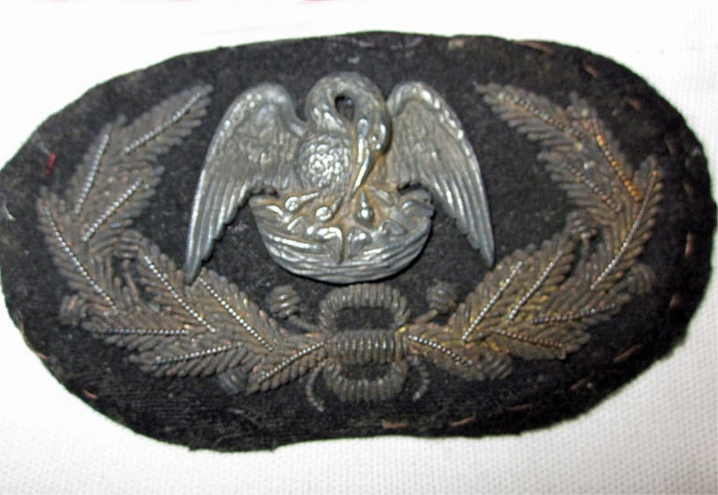 RARE! Confederate Louisiana General's Hat Insignia - 4