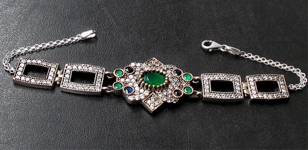 13.39cts Emerald,Topaz & Sapphire Bracelet - 2