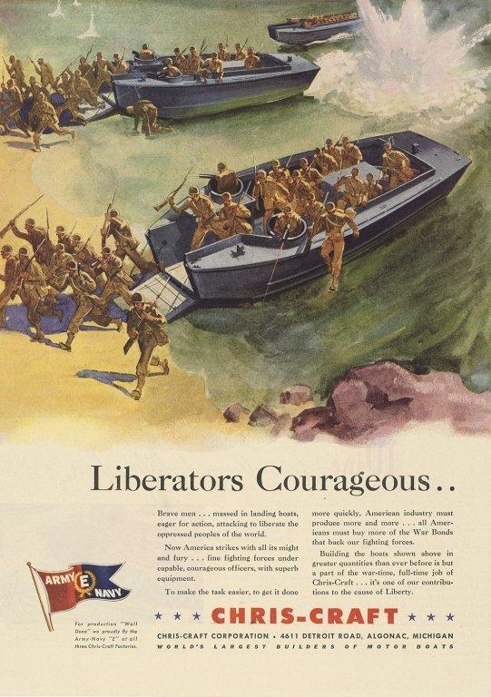 Original WWII Chris Craft Landing Boat Ad