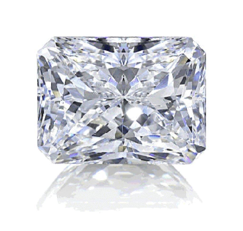 4ct Radiant Cut BIANCO Diamond