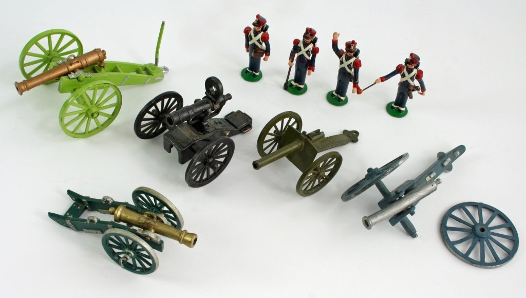 Group of Metal Artillery Toys, Soldiers