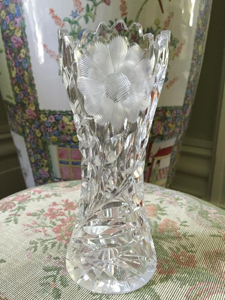 Late 19th / Early 20thc Cut Glass Vase