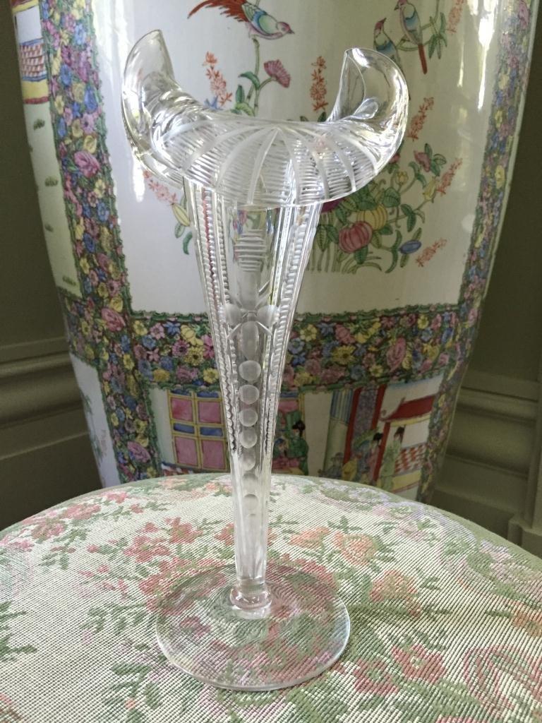 Exquisite c1890 Tulip Crystal Cut Glass Vase