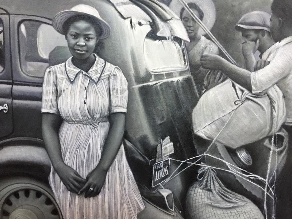 20thc Signed Oil Painting, African American