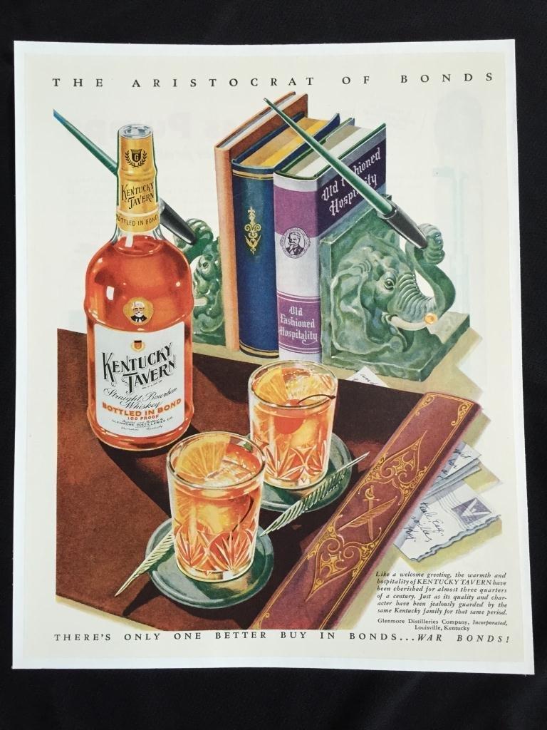 c1940's Kentucky Tavern Whiskey Advertisement