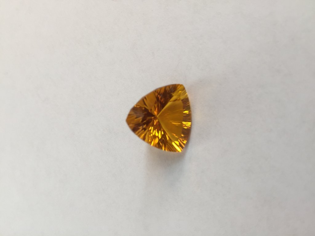 9.15ct Honey Orange Trillion Citrine Gemstone