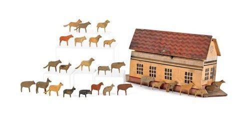 Rare 19thc Folk Art Noah's Ark Toy