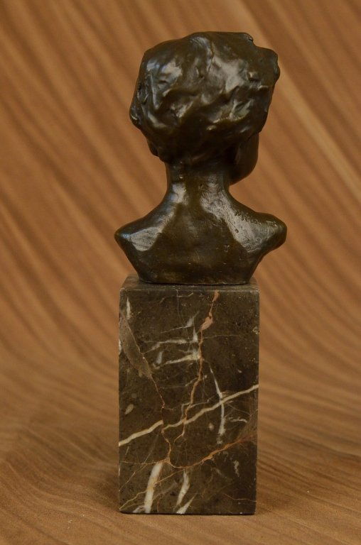 Little Boy Bronze Bust Sculpture - 3