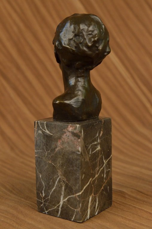 Little Boy Bronze Bust Sculpture - 5