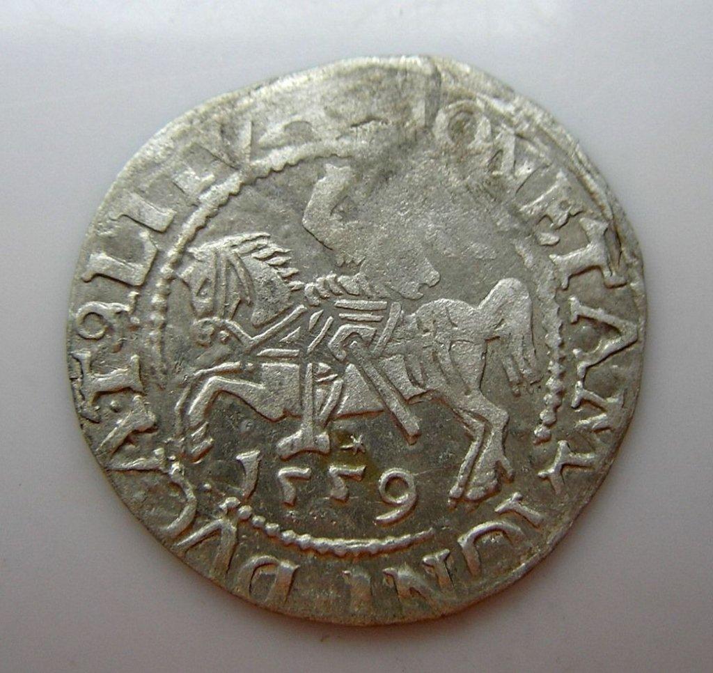 16thc Medieval Polish Silver Grosz Coin