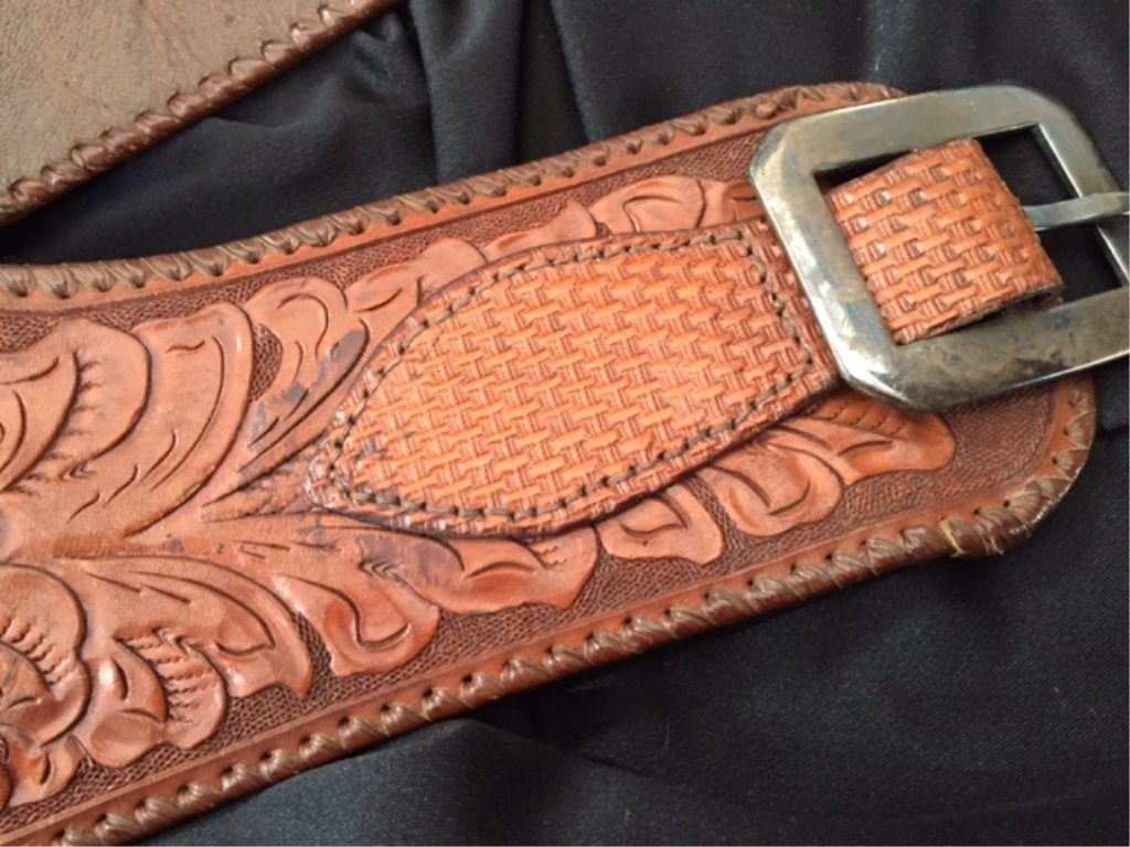 Colt Double Holstered Gun Belt with Silver Buckle - 5