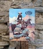 Retro Style Western Cowboy Colt Guns Metal Sign