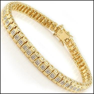 Diamond & Gold Tennis Bracelet