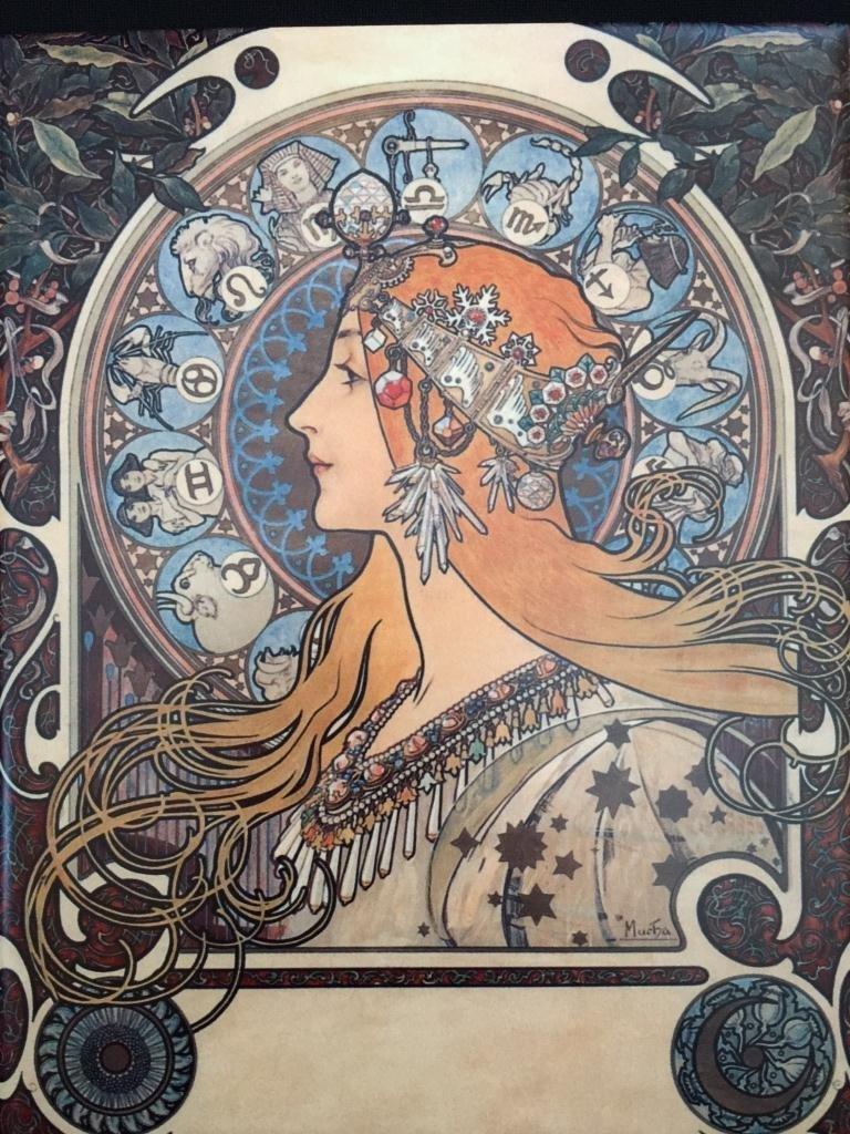 Alphonse Mucha Zodiac Ceramic Art Tile - 2