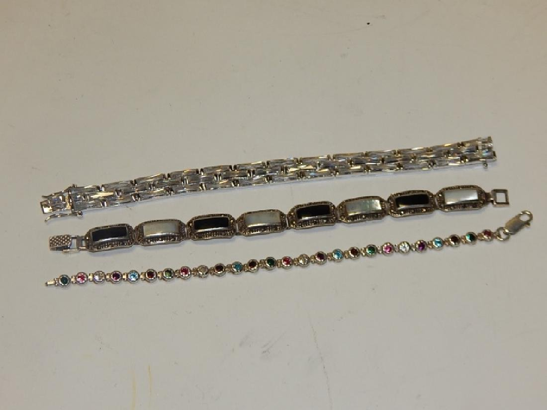 THREE STERLING SILVER BRACELETS - 2