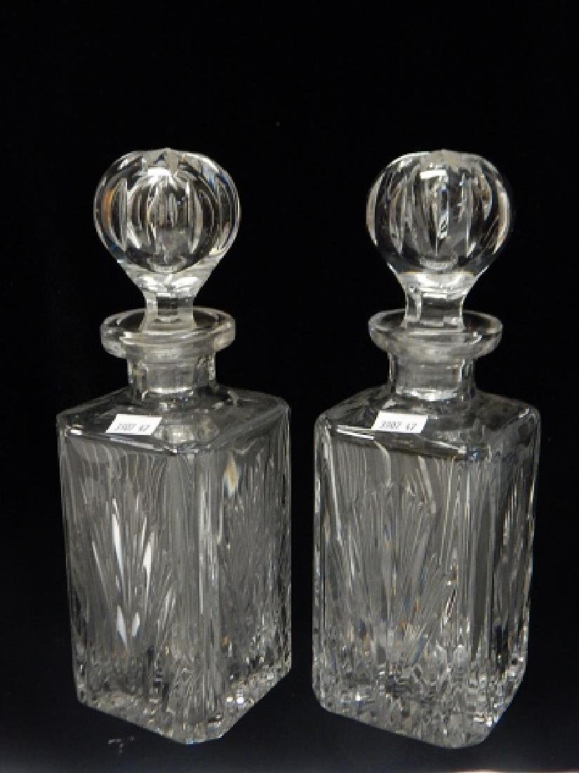 TWO GORHAM CRYSTAL DECANTERS